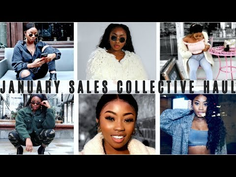 JANUARY SALES HAUL 2018 | Missguided, Forever 21, PLT, Boohoo | LIZZIE LOVES