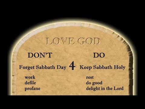 God's 4th Love Commandment Explained - Keep Sabbath Day Holy