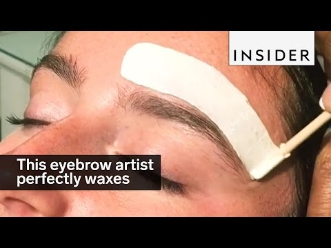 This eyebrow artist perfectly waxes and shapes brows