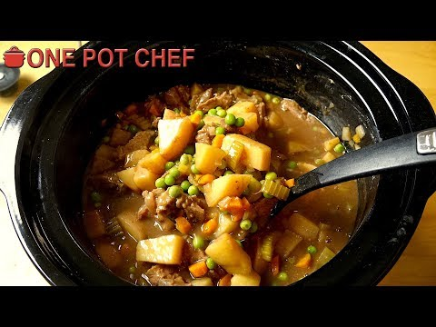 My Favourite Slow Cooker Beef Stew | One Pot Chef
