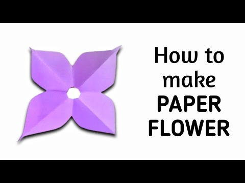 How to make simple & easy paper flower - 4 | Kirigami / Paper Cutting Craft Videos & Tutorials.