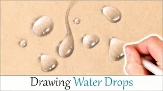 Tutorial How To Draw A Water Drop On White Paper With Graphite