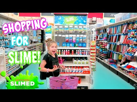 Shopping for Slime at Michaels Slime Headquarters for DIY Slime Recipe Ingredients! hope marie