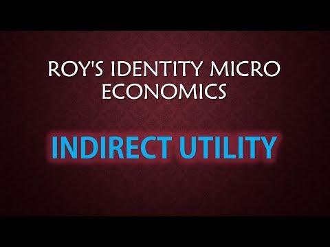 INDIRECT UTILITY +ROY'S IDENTITY micro economics isi+jnu+dse