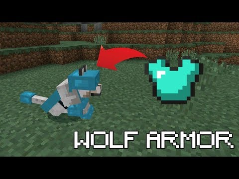 How to get WOLF ARMOR in Minecraft (PE, PS4/3, Xbox, Switch)