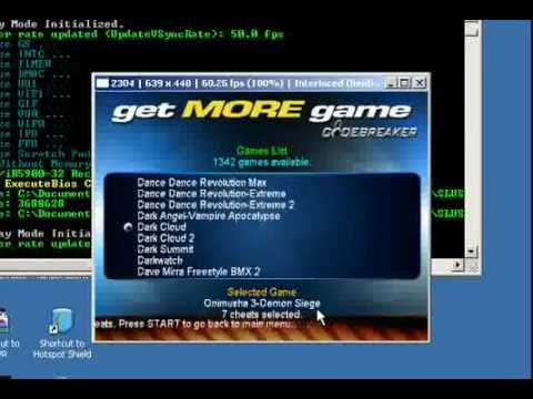 play pcsx2 with codebreaker.flv