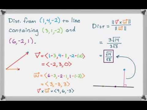 Cross Product and Distance from a Point to a Line