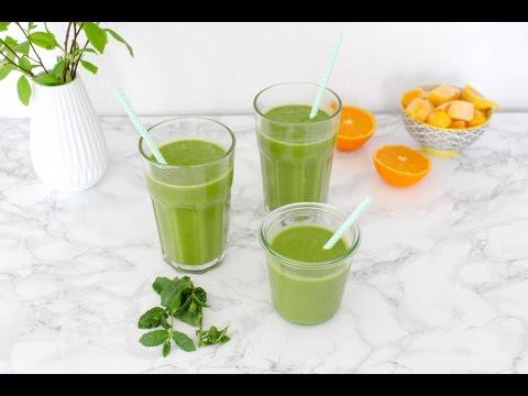 Grüner Frühlingssmoothie mit Minze und Basilikum | Heavenlynn Healthy