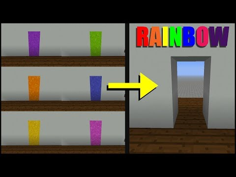 How to Make a Rainbow Door in Minecraft