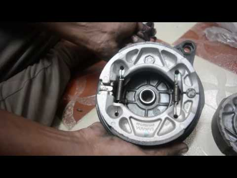 Yamaha FZ Brake shoe Change DIY India
