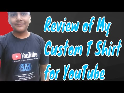 Unboxing and Review of my Custom T- Shirt