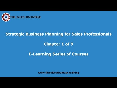 Strategic Business Planning for Sales Professionals Chapter 1