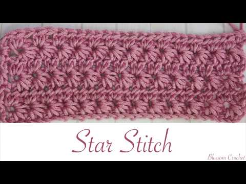 Simple Crochet: Star Stitch (Scarves, blankets etc)