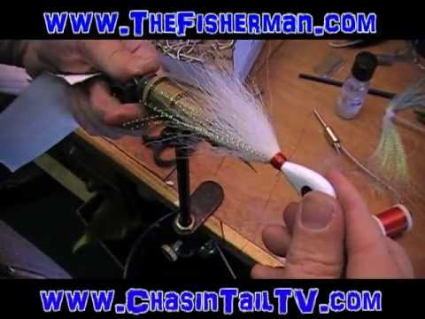 How to Tie a Fluke / Flounder Bucktail with Flash Added by Asgard Jigs