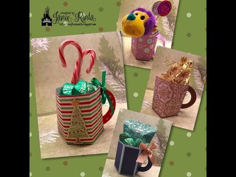 Paper Mug / Coffee Cup - Treat & Gift Holder - NO ENVELOPE PUNCH BOARD