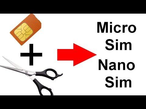 Transformando chip sim antigo em micro sim ou nano sim!