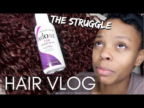 Black to Purple Tutorial Struggle | Ft. Beauty Forever Hair