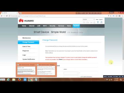 How to Unlock Huawei  Router E5172s-927