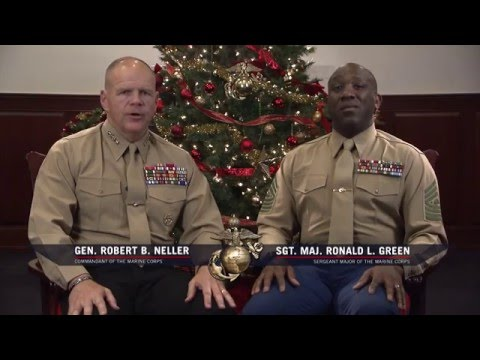 CMC and SMMC holiday message to Marines