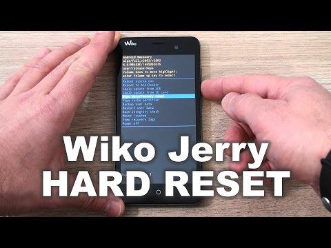 Wiko Jerry hard reset