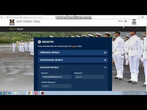 How to register the join indian navy