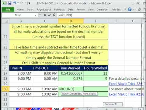 Excel Magic Trick 501: Excel Time Format & Calculations (10 Examples)