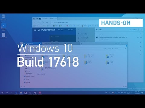Windows 10 build 17618: Hands-on with tabs in File Explorer and apps, Fluent Design, Settings