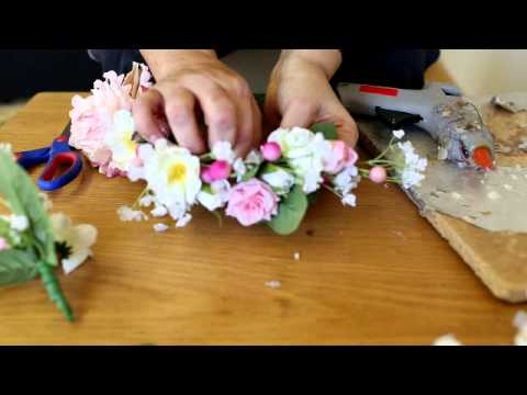 DIY Flower crown - adjustable to fit any head size