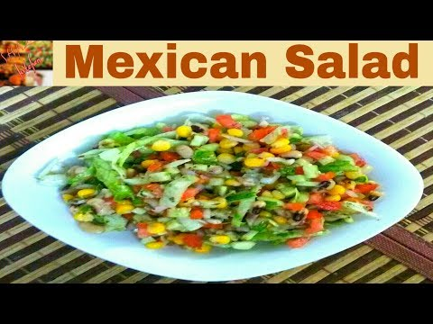 Mexican Salad - Healthy Salad Recipe/Easy & Quick(In Urdu/Hindi)How To Make Mexican Salad At Home