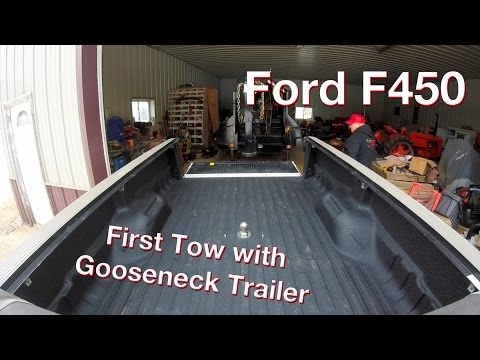 Towing our Gooseneck Trailer with my Ford F450 for the First Time