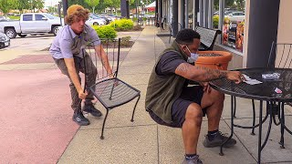 Magic Chair Pulling Prank