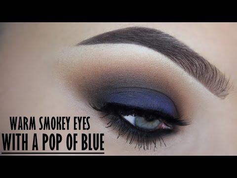 Smokey eye with a pop of blue - Makeupbyan