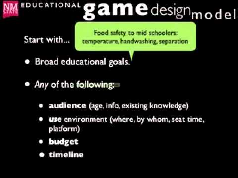 Educational Game Design Model (NMSU Learning Games Lab)