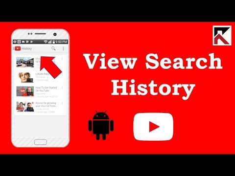 How To View Search History YouTube Android