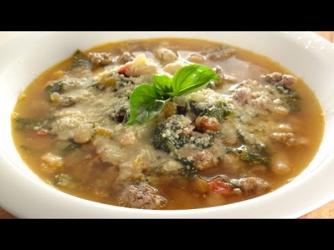 Italian Inspired Garden Soup - Using Your  Tomatoes,Herbs, & Spinach (or Kale)