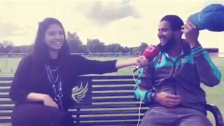 Imad Wasim interview with Zainab Abbas during Champions Trophy 2017.