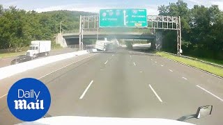Road Rage Results In Tractor-trailer Flipping Over On The Highway