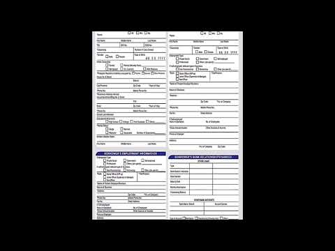 BDO Asenso Kabayan Personal Loan Application Form