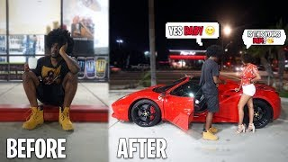 The Homeless Millionaire GOLD DIGGER EXPERIMENT! SHE THOUGHT I WAS HOMELESS UNTIL...