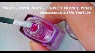 #101 Nail Art DIY French Pink Manicure polish - Frankenpolish