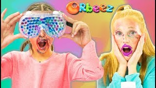 NO MIRROR Make Up Challenge - Orbeez Blindfold!   Official Orbeez