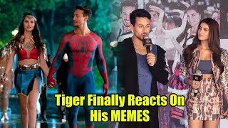 Tiger Shroff Finally Reacts On His Spiderman And Dc Memes | Student Of Years 2