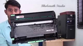 video reset máy in brother 1601 báo toner end và replace toner 2