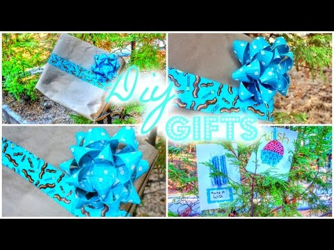DIY Gift Ideas {Duct Tape Bow,Cards,Gift Bag}
