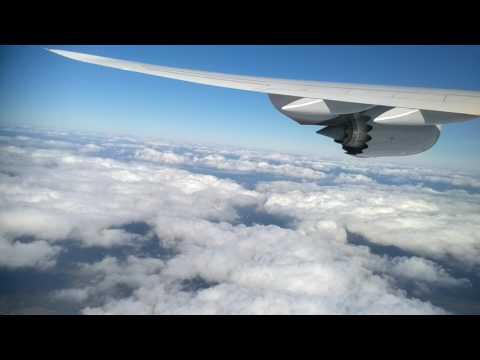 Lufthansa flight sky view