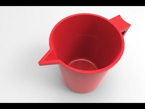 ► SolidWorks Tutorial - Design a Bath Mug - KeyShot Rendering