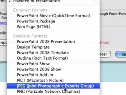 How to Save a PowerPoint File as PNG