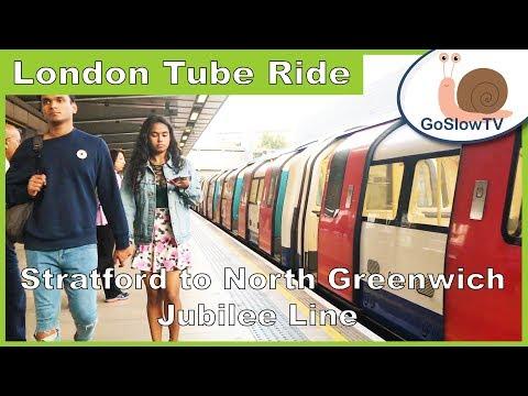 London Underground Tube Ride | Stratford to North Greenwich | Slow TV | Episode 5 (2018)