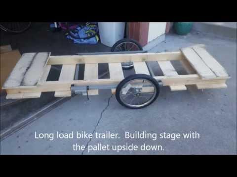 DIY Pallet Bike Trailer (2x)