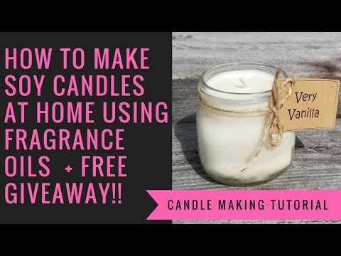 How To Make Soy Candles At Home Using Fragrance Oils + Free Giveaway